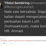 FENOMENA LGBT : Bahas Hadis LGBT, Tifatul Sembiring dan Joko Anwar Twitwar