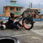 HIBURAN DI MAL : Serunya Main Motor Drift di Rooftop Solo Grand Mall