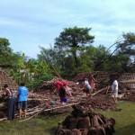 BENCANA SUKOHARJO : Tertiup Angin, Dua Rumah Di Tawangsari Roboh