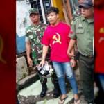 ISU PKI BANGKIT : Pakai Kaus Palu Arit, Pekerja Bangunan Diamankan Polisi