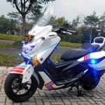 MODIFIKASI MOTOR: Ragam Modifikasi Nmax, Ala Polisi Sampai Presiden