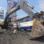 PERBAIKAN INFRASTRUKTUR : Perbaikan Jalan di Gembongan Selesai Awal Bulan Puasa