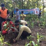 BAKTI SOSIAL : Siswa Tanam 1000 Pohon Buah di Kegiatan Kemah Akhir Tahun