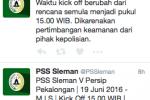 ISC B 2016 : Alasan Keamanan, Jadwal PSS VS Persip Diajukan