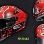 AKSESORI MOTOR : Intip Hebatnya Helm Shoei Marc Marquez di Motogp