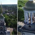 KISAH UNIK : 2 Turis Mesum di Menara Biara Tertangkap Kamera Drone