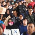 Ilustrasi pemudik Lebaran tiba kembali di Jakarta dengan kereta api kelas Ekonomi. (JIBI/Solopos/Antara/Akbar Nugroho Gumay)