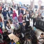 Ilustrasi penumpang kereta api yang terlibat dalam arus milir mudik Lebaran dengan kereta api kelas Ekonomi di Jakarta. (JIBI/Solopos/Antara/Akbar Nugroho Gumay)