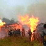 KEBAKARAN DEMAK : Pabrik Kayu Manunggal Jati Terbakar, 4 Rumah Warga Turut Jadi Abu