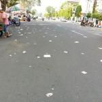 CAR FREE DAY MADIUN : Arena CFD Banyak Sampah, Netizen Paguma Geram