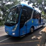 Batik Solo Trans (BST) melintas di halte bus Jl. Slamet Riyadi Solo saat uji coba oleh Dishubkominfo Solo, Kamis (1/9/2016). Uji coba tersebut untuk mengecek kesiapan jalur yang akan di lalui BST. (Nicolous Irawan/JIBI/Solopos)