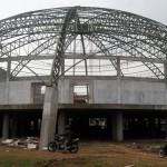 Konstruksi Kubah Convention Hall Boyolali Mulai Dibangun