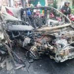 KECELAKAAN SEMARANG : Begini Penampakan Toyota Alphard yang Hancur Terbakar di Ungaran
