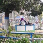 PERGAULAN BEBAS MADIUN : Bermesraan di Alun-Alun Kota Madiun, Pasangan Remaja Ini Dikecam