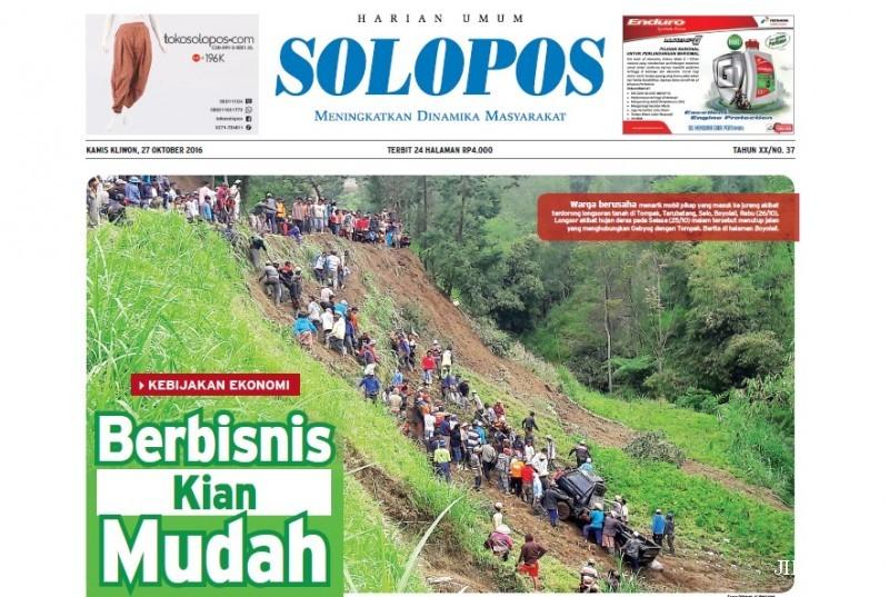 SOLOPOS HARI INI : Indonesia Cetak Rekor di Peringkat Kemudahan Berbisnis