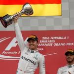 FORMULA ONE 2016 : Rosberg Juara GP Jepang, Hamilton Finis Ketiga