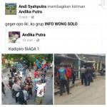 TURN BACK HOAX : Postingan Facebook Kadipiro Siaga I Hoax! Ini Penjelasan Kapolsek Banjarsari Solo