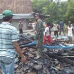 KEBAKARAN MADIUN : Tabung Gas Meledak, Pabrik Kerupuk di Madiun Ludes Terbakar