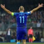 KUALIFIKASI PIALA DUNIA 2018 : Robben Kembali, Bikin Gol, dan Cedera Lagi