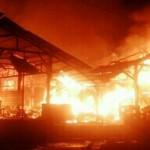 KEBAKARAN SEMARANG : Bangunan Terbakar Pasar Waru Tergolong Baru