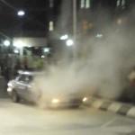 KEBAKARAN SEMARANG : Mobil Sedan Terbakar di Depan Balai Kota