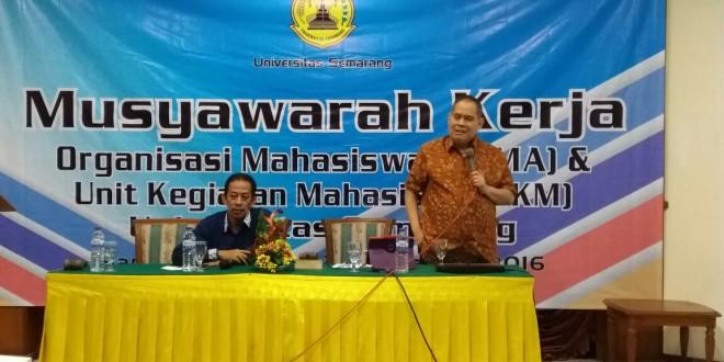 KAMPUS DI SEMARANG : USM Musyawarah Kerja di Hotel Bandungan