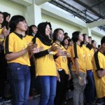 Polwan Cantik Ramaikan Stadion Citarum Semarang