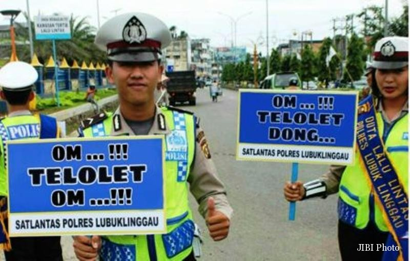 "Waduh, Pak Pol Juga Ikut-Ikutan Girang ""Om Telolet Om"""