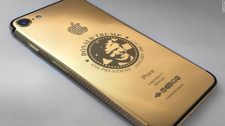 SMARTPHONE TERBARU : Iphone 7 Donald Trump Lapis Emas Dijual Rp2 Miliar