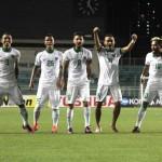 Para pemain Timnas Indonesia merayakan gol (PSSI.org)