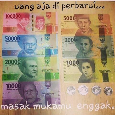 Begini Kocaknya Netizen Bikin Meme Uang Rupiah Baru