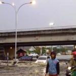 BANJIR SEMARANG : Hujan Deras, Kaligawe Banjir Parah