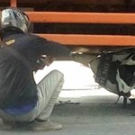 KECELAKAAN KENDAL : Motor Masuk Kolong Truk, Begini Kondisi Pengendara…