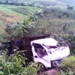 KECELAKAAN KENDAL : Sopir Ngantuk, Truk Terperosok ke Ladang Jagung