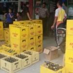 MIRAS GROBOGAN : Polisi Grobogan Sita Ribuan Botol Berisi Miras