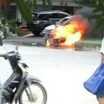 KEBAKARAN SEMARANG : Motor Terbakar Gara-Gara Rokok Sita Perhatian Netizen