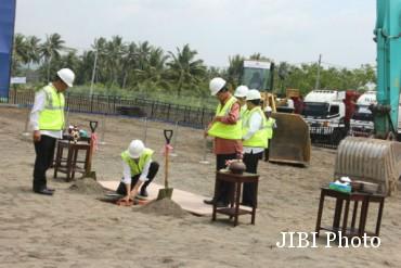 Peletakan batu bata pertama NYIA (Desi Suryanto/JIBI/Harian Jogja)