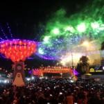 TAHUN BARU IMLEK : Pesta Kembang Api Fantastis! Langit Pasar Gede Solo Berhias Warna-Warni