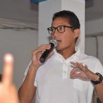 PILKADA JAKARTA : Jelang Putaran Kedua, Sandiaga & Luhut Pandjaitan Bersalaman