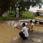 INFRASTUKTUR BOYOLALI : Satker Tol Soker Mulai Perbaiki Jalan Desa Dibal