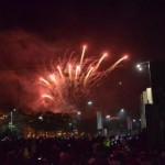 Kemeriahan pesta kembang api di kawasan Solo Baru, Sukoharjo, Sabtu (31/12/2016) malam. (Bony Eko Wicaksono/JIBI/Solopos)