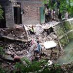 BENCANA SOLO : Talut Ambrol, 2 Rumah di Mojosongo Terancam Roboh