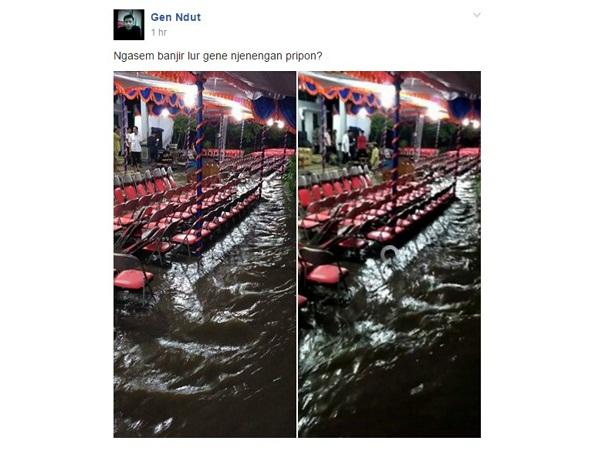 Hajatan Akikah Malah Kebanjiran, Warga Karanganyar Ini Tuai Simpati