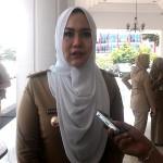 Bupati Kendal, Mirna Annisa, saat diwawancarai wartawan di Wisma Perdamaian, Semarang, Senin (20/2/2017). (Imam Yuda Saputra/JIBI/Semarangpos.com)