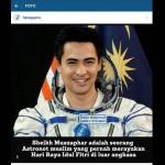 TRENDING SOSMED : Astronot Muslim Ganteng Curi Perhatian Netizen