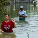FOTO BANJIR DEMAK : Sedalam Ini Genangan Air di Sayung...