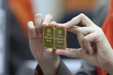 Ilustrasi emas batangan. (JIBI/Bisnis)