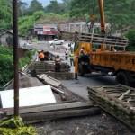 INFRASTRUKTUR BOYOLALI : Material Datang, Jembatan Darurat Grawah Mulai Dibangun