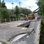INFRASTRUKTUR BOYOLALI : Jembatan Darurat Grawah Dibuat Satu Lajur
