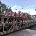 INFRASTRUKTUR BOYOLALI : Lebaran, Jembatan Grawah di Jalur SSB Masih Pakai Bailey